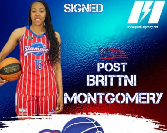 Brittni Montgomery has re-signed with Slammers