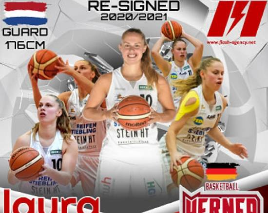 Laura Westerik has re-signed with Herner TC