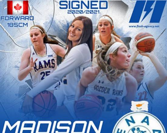 Madison Torresin has signed with ENAD B.C.