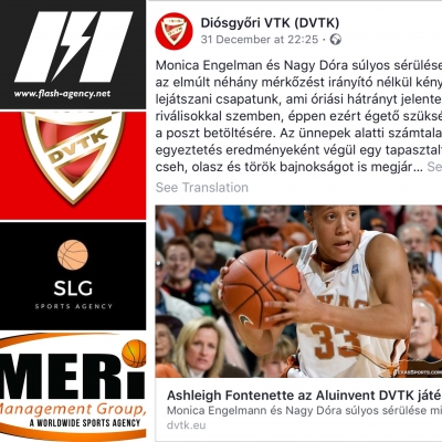 Ashleigh Fontenette has signed with DVTK Miskolc