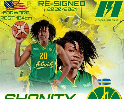 Shanity James has re-signed with Alvik Basket